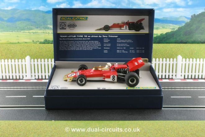Scalextric C3657A Lotus 72 Tony Trimmer #8